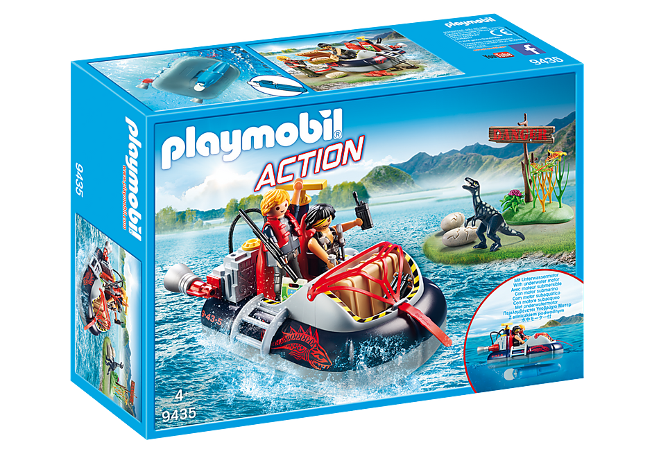 Playmobil Action 9435 Dino Hovercraft with Underwater Motor