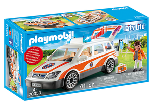 Playmobil City Life 70050 Emergency Car with Siren