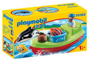 Playmobil 1.2.3 70183 Fisherman with Boat