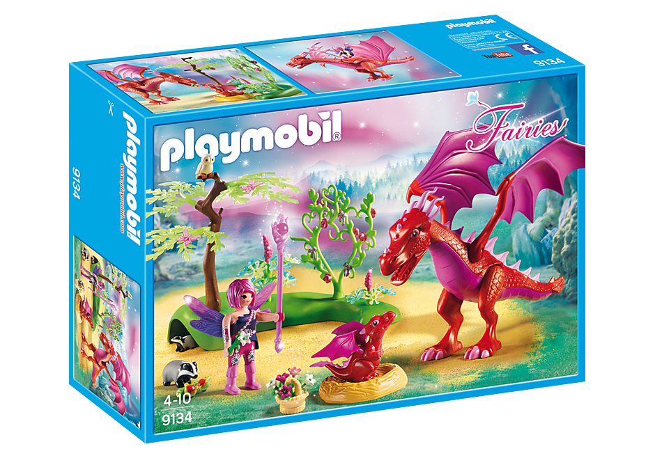 Playmobil Fairies 9134 Friendly Dragon with Baby
