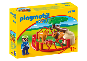 Playmobil 1.2.3 9378 Lion Enclosure
