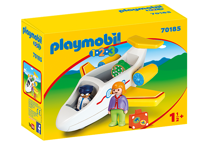 Playmobil 1.2.3 70185 Plane with Passenger