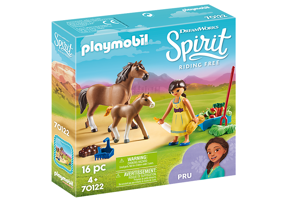 Playmobil Spirit 70122 Pru with Horse and Foal