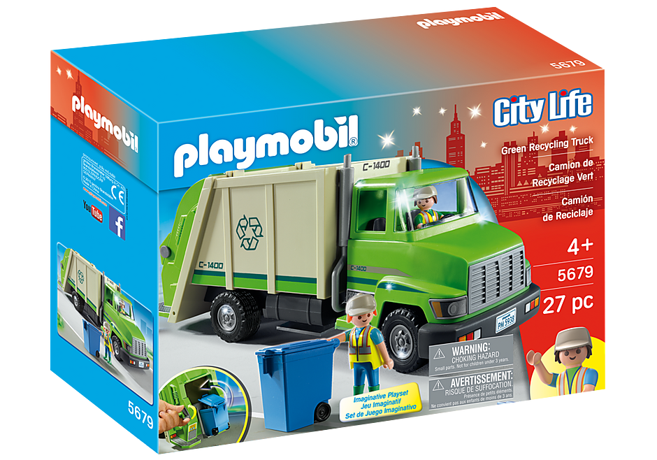 Playmobil Action 5679 Recycling Truck - Green