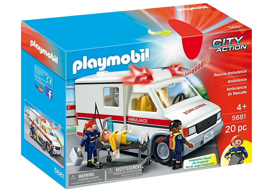 Playmobil Action 5681 Rescue Ambulance