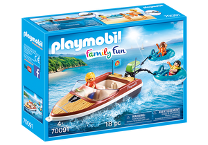 Playmobil Family Fun 70091 Speedboat with Tube Riders