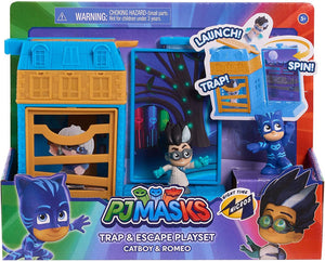 PJ Masks Trap and Escape Playset (Catboy & Romeo)