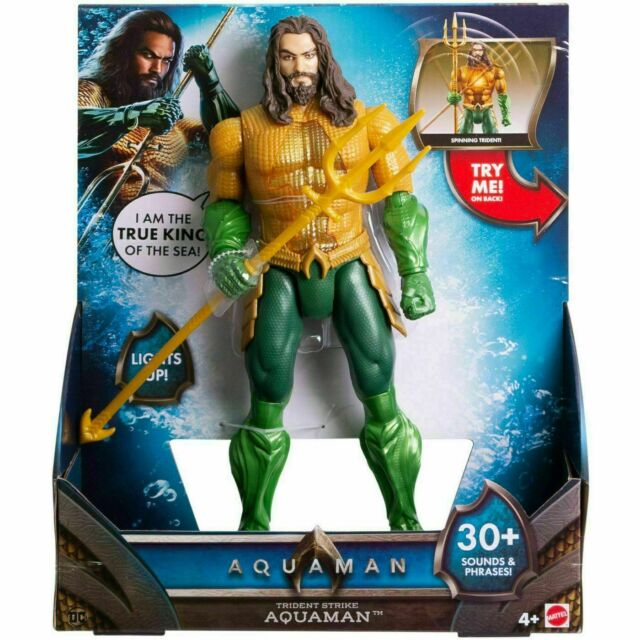 Aquaman 12-inch Lights and Sounds Trident Strike Aquaman Figure