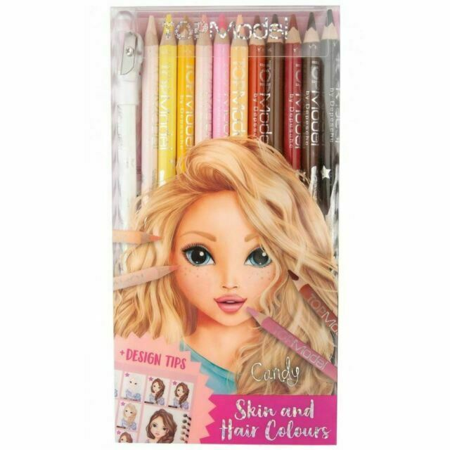 Top Model Hair and Skin Colour Pencils 12pk
