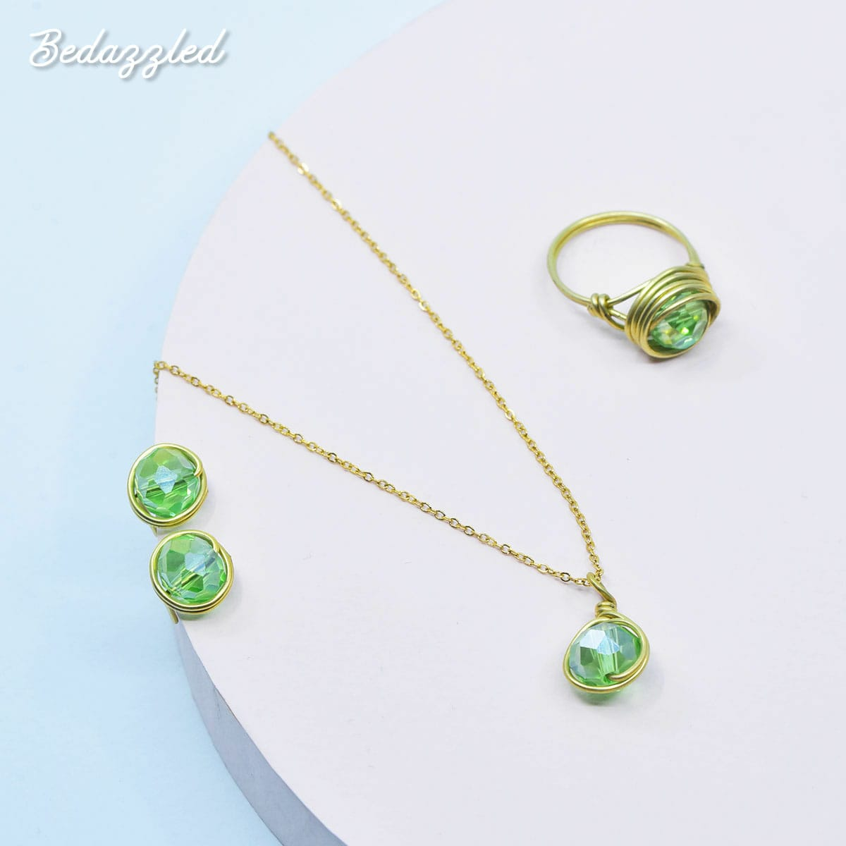 Bedazzling Green - Set of 3