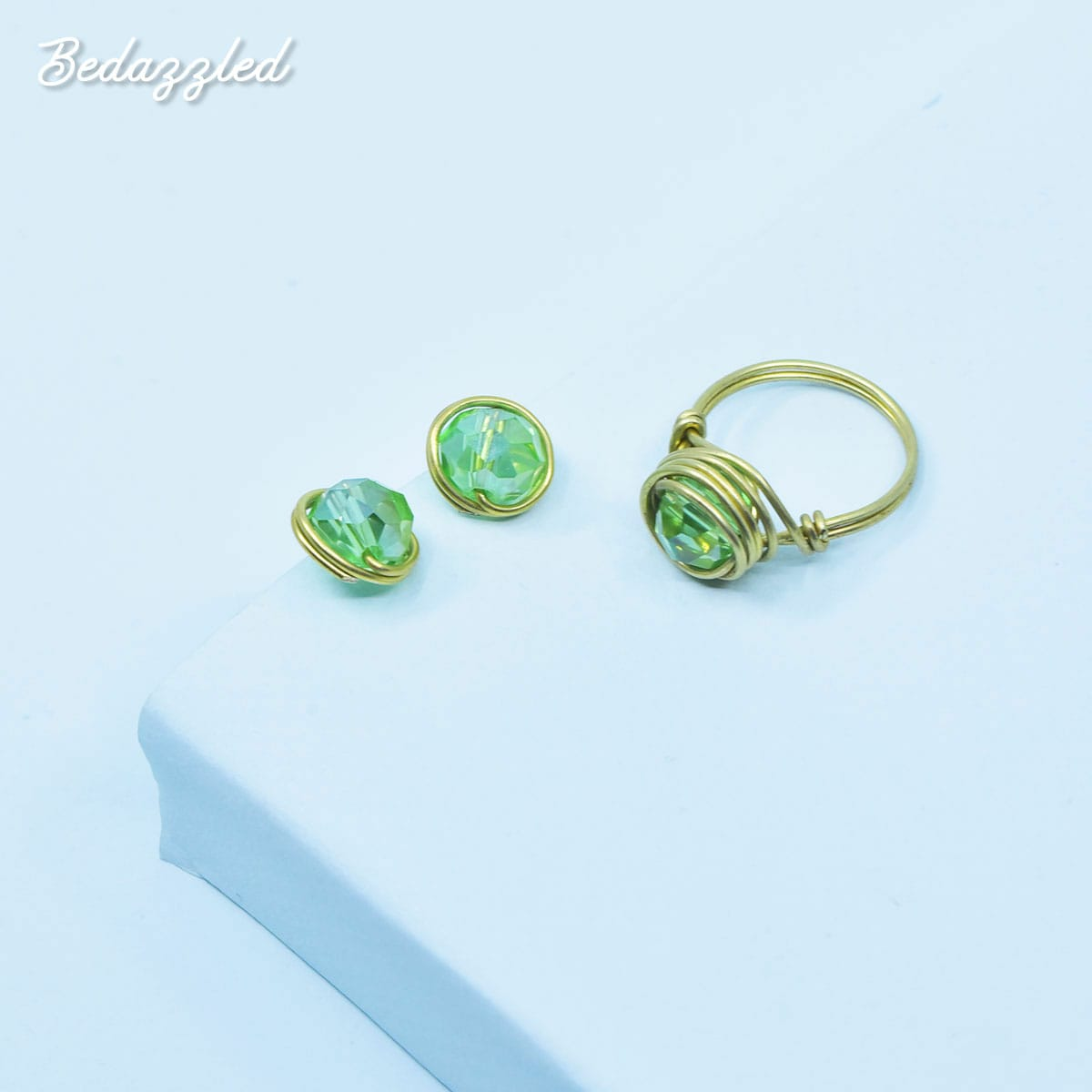 Bedazzling Green - Set of 2
