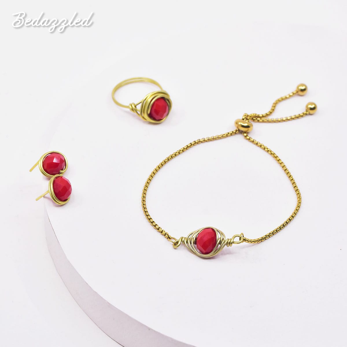 Bedazzling Red - Set of 3