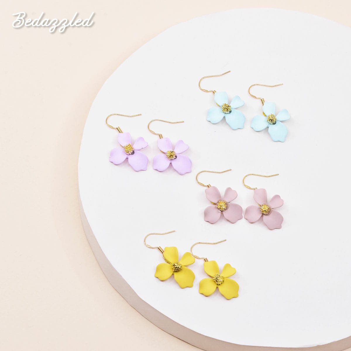 Dangling Flower 5 - Earrings