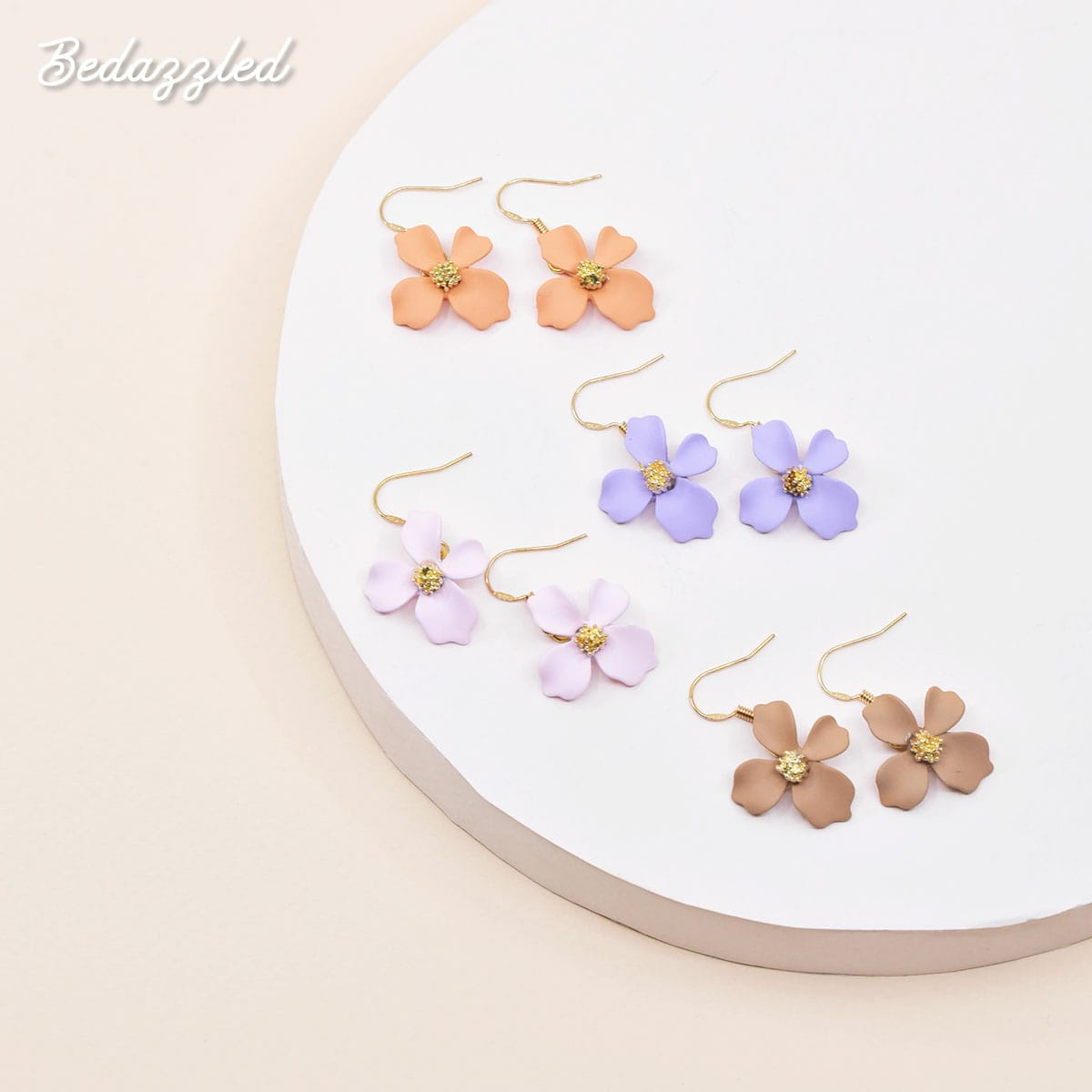 Dangling Flower 4 - Earrings