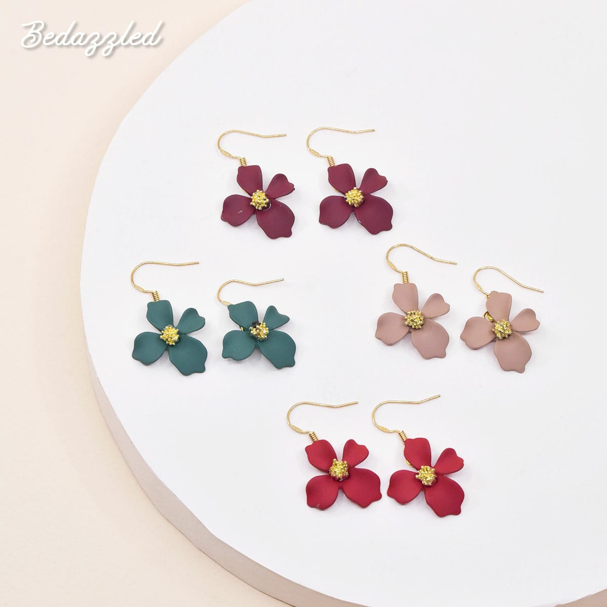 Dangling Flower 6 - Earrings