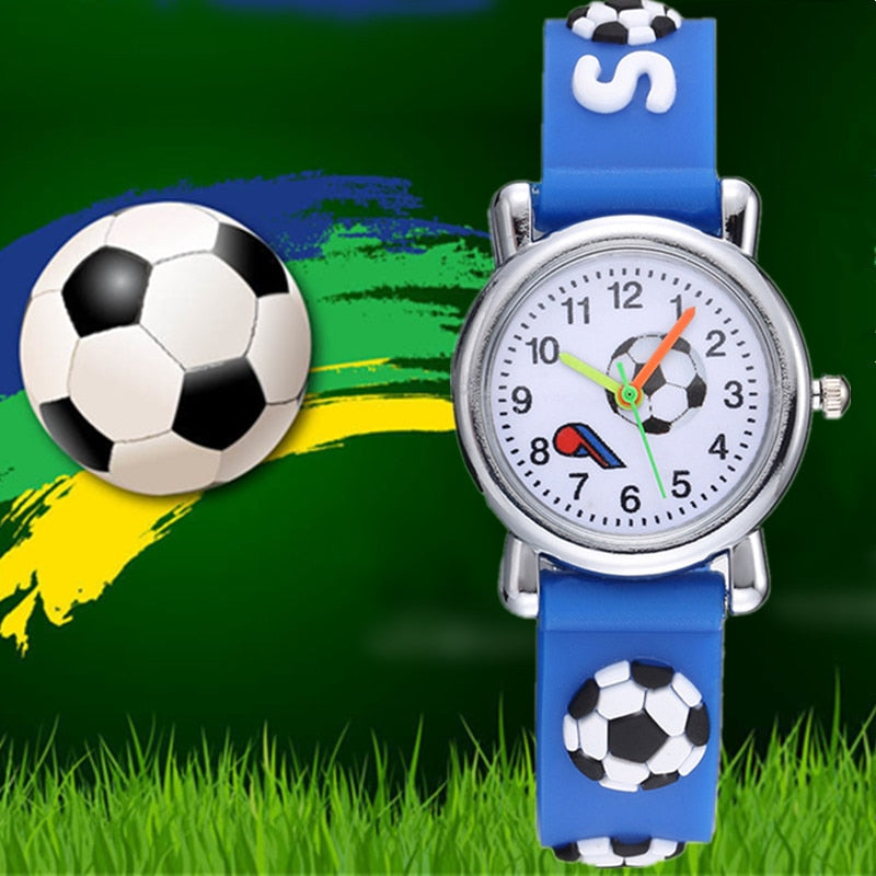 Children's Watches 3D Football Cartoon Watch Casual Boys Sports Quartz Watches Kids Wristwatch Clock relogio Erkek Kol Saati
