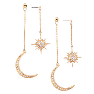 2019 New Hot Sale Sun and  Celestial Earrings Retro mystical fantasy Earrings