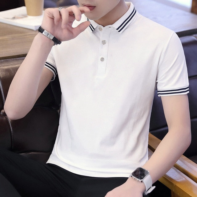 Belbello Summer Men's New Style youth woman Customized Shirts Self-cultivating Lapel Pure short sleeves cultural shirt