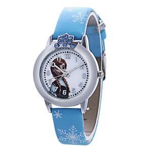 New Style Princess Elsa Child Watches Cartoon Anna Crystal Princess Kids Watch For Girls Student Children Clock Wrist Watches