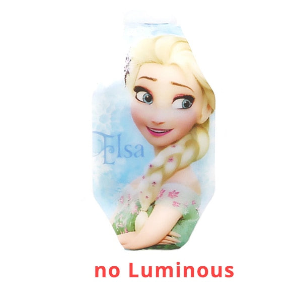 New Luminous Princess Elsa Child Watches For Girl Avengers Captain LED Watch Kids Student Electronic Watch Clock Reloj Infantil