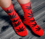 Winter high Quality Harajuku chaussette Style Weed Socks For Women Men's Cotton Hip Hop Socks Man Meias Mens Calcetines
