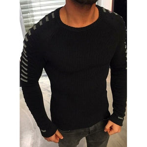 New Arrival Casual Pullover Sweater Men O-Neck Quality Drop shipping Brand clothes Knitted Male Patchwork top Sweaters plus size