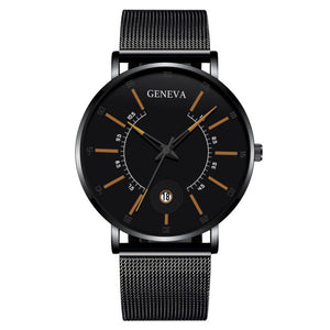 Relogio Masculino 2020 Fashion Mens Business Minimalist Watches Luxury Ultra Thin Stainless Steel Mesh Band Analog Quartz Watch