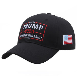 [SMOLDER]New Fashion Embroidered Trump 2020 No More Bullshit Unisex Baseball Caps Snapback Cap Gorras