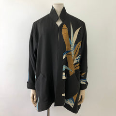 Tailored jacket/ short/ no button/ A-line