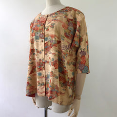 TOPS / round neck, button up