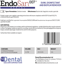 Load image into Gallery viewer, EndoSan 007 Dental Unit Water Line (DUWL) Disinfectant