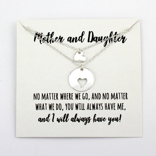 Mother And Daughter Necklace - [Lovely_Givings]
