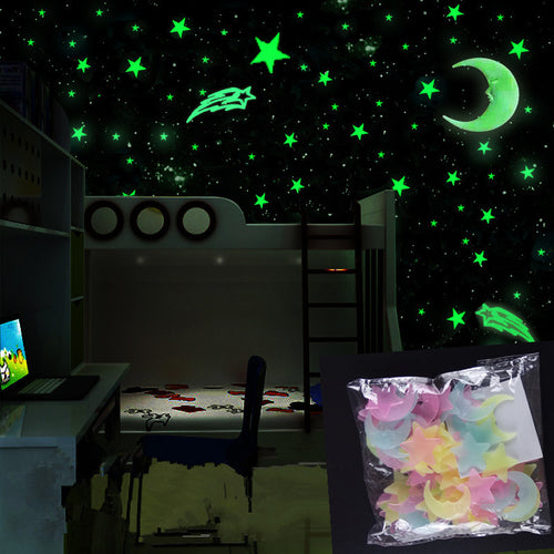 Moon & Stars Glow Stickers - [Lovely_Givings]