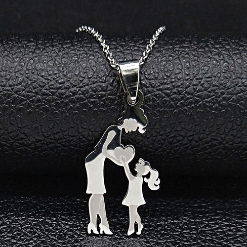Mom Daughter Stainless Steel Chain Necklace - [Lovely_Givings]