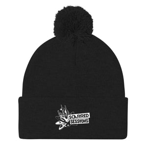 Scarred Sessions Pom-Pom Beanie