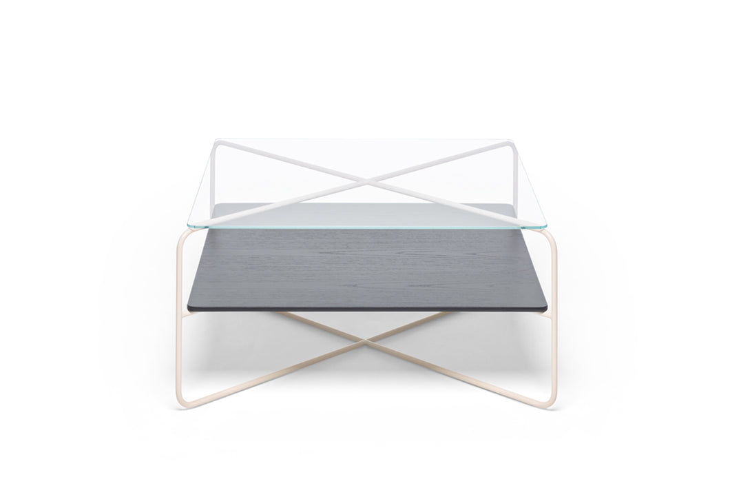 Marabou Coffee Table - Sand frame Black tray