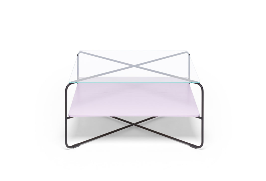 Marabou Coffee Table - Black frame Lilac tray