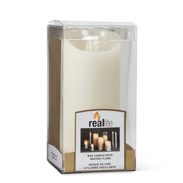 "Reallite:  Flameless Candles -3"" x 7"" pillar"