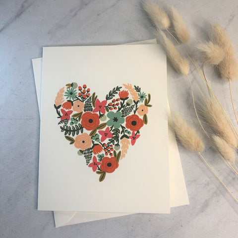 Rifle Paper Co - Floral Heart Card