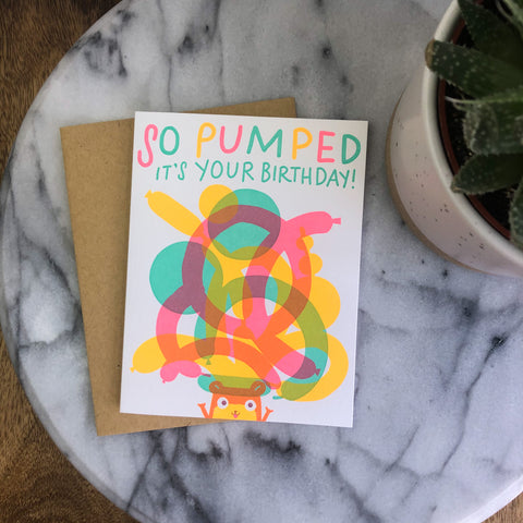 Hello! Lucky - Pumped It's Your Birthday Card