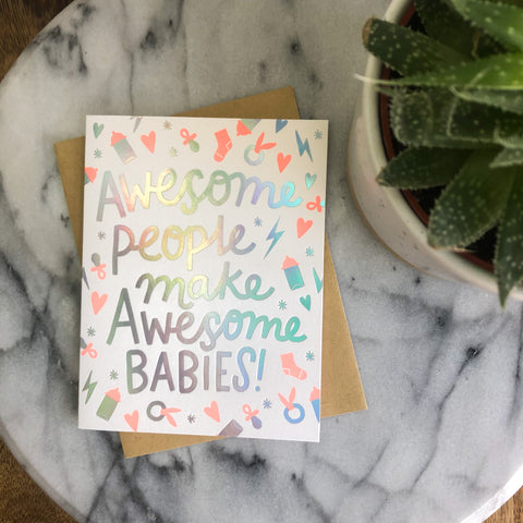 Hello! Lucky - Awesome Baby Card