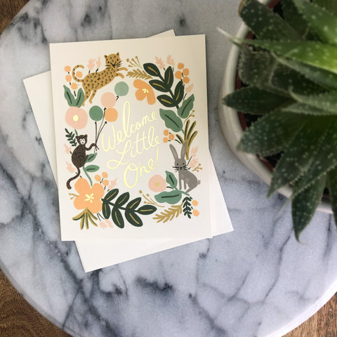 Rifle Paper Co - Welcome Little One Card
