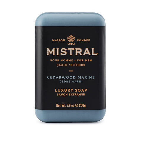 Mistral for Men: Bar Soap - Cedarwood Marine
