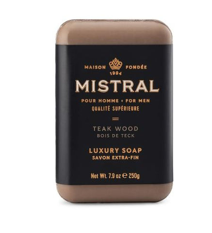 Mistral for Men: Bar Soap - Teak Wood