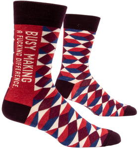 Blue Q: Men's Novelty Socks - Making a Difference