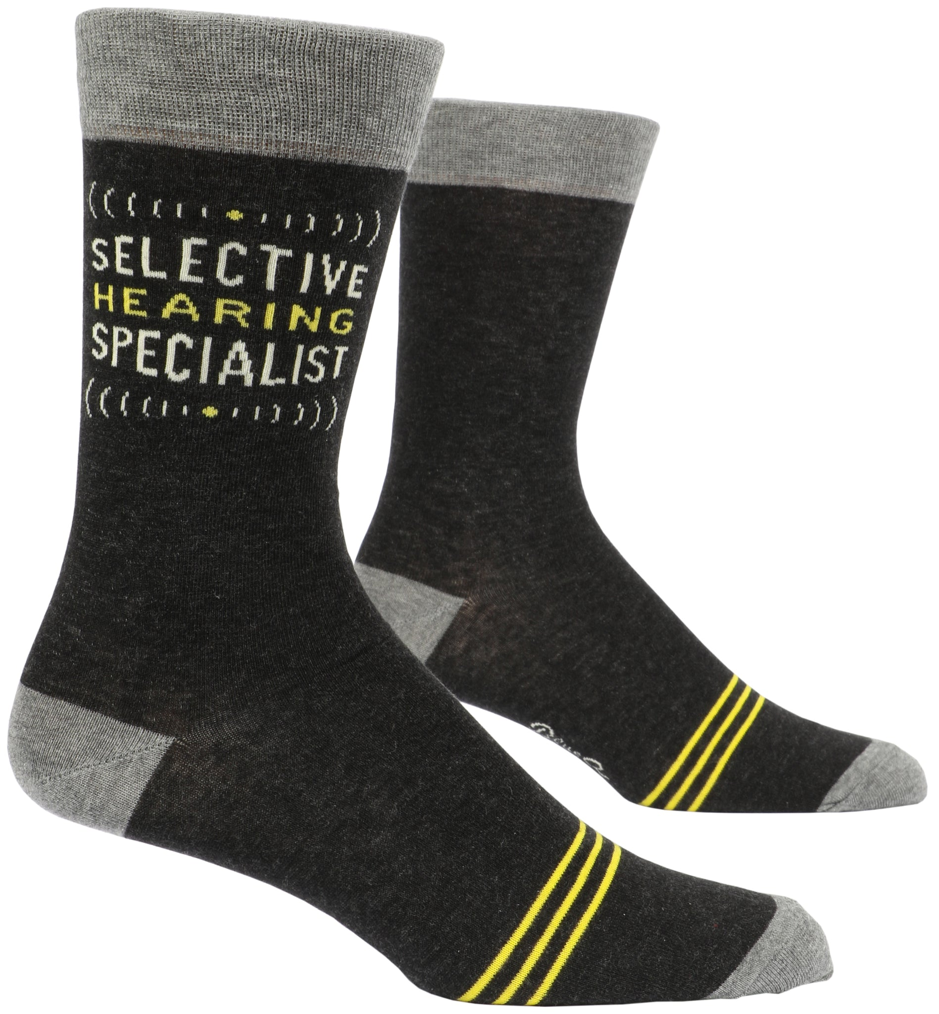 Blue Q: Men's Novelty Socks - Selective Hearing