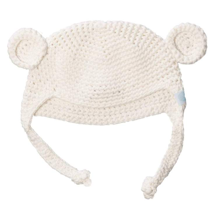 Beba Bean:  Crochet Bear Toque - Grey, Pink or Ivory