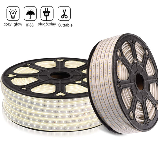 GZBtech 110V 6500K 164FT/50M Cool White LED Strip Light