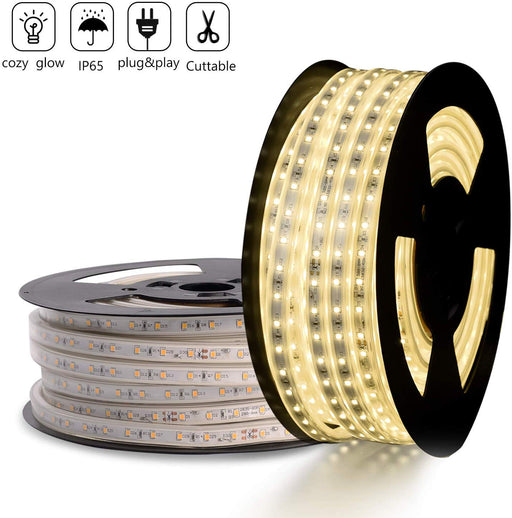 GZBtech 110V 4500K 82FT/25M  Neutral White LED Strip Light