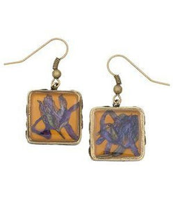 Mountain Wildcat Earrings, square